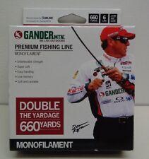 Gander MTN Mountain 6 LB 660 Yards PREMIUM Clear New Monofilament Fishing Line