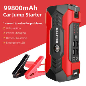 99800mAh Portable Car Jump Starter Vehicle 12V Charger Power Bank Battery Engine