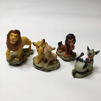 Disney Lion King Set Of 4 Sculpted Figurines Mufasa Simba Nala Scar Enesco Group