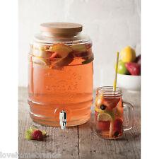 Kilner 5L litre tonneau verre distributeur boissons en bois-couvercle spiritueux alcool mariage