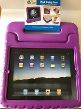 BUMP CASE IPAD 2 3 4 TECH & GO! ROTATING HANDLE CARRY KIDS CHILDS PURPLE NEW
