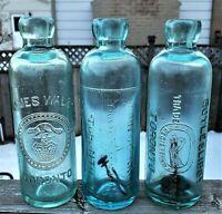 🍁 James Walsh John O'Connor Boyle Libby Toronto Canada Hutchinson Soda Bottles