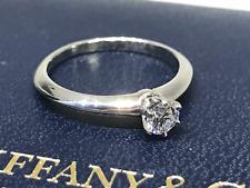 Tiffany & Co. Solitär Verlobungsring 950 Platin Gr.54 Box u. Zertifikat 0,28ct