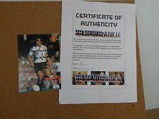 MANCHESTER UNITED HAND SIGNED LOU MACARI 6X4 PHOTO.with COA