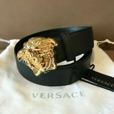 Versace Belt Medusa Head Buckle black mens & womens size 38, 36, 34, 32