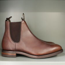 Loake Chatsworth Chelsea Boots 9 G in Brown Calf on Dainite Sole (131)