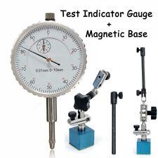 Comparatore Centesimale 0-10mm Risoluzione 0.01mm + 215mm Magnetica Base