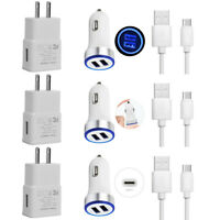 For Samsung Galaxy A80 A70 A60 A50 S10e S10 G5 Fast Wall Car Charger USB-C Cable