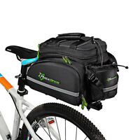 RockBros Bike MTB Rear Carrier Bag Cycling Bicycle Rear Pack Pannier Black