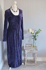 MARINA AVRAAM (Ghost) purple velvet crinkle gothic long dress SMALL 6/8