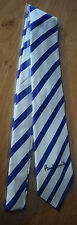 """Paul Smith ROYAL BLUE Tie """"MAINLINE"""" 10mm Stripe 8cm Blade Made in Italy"""