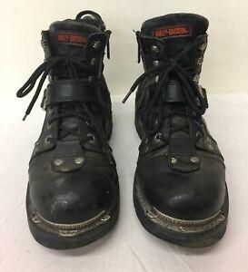 Men's Harley Davidson Black Motorcycle Boots 10.5