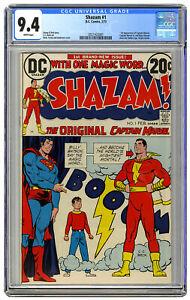 DC Shazam! Comic #1 CGC 9.4 CC Beck 1st Bronze Age Appearance High Grade NM WP
