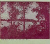 1898-04 North Shore Fountain Lake Albert Lea, MN Vintage Postcard P98