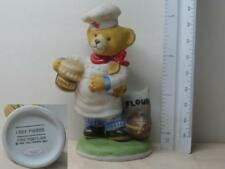 1986 The Franklin Mint Chef Pierre Hotel Teddington Bear Figurine