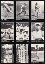 BABE RUTH COLLECTION 1992 MEGA CARDS COMPLETE BASE CARD SET OF 165 SP