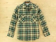 vtg usa made WOOLRICH wool blend shirt MEDIUM (L tag) plaid lumberjack
