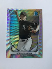 2014 Bowman Chrome Spencer Adams /25 Rookie Silver Wave Refractor White Sox RC