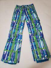 Spyder Girls Vixen Ski Snow Pants 5267-11 Geometric Print size 16