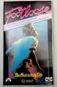 Footloose Kevin Bacon Frances Lee McCain VHS Cassette Tape PAL M 1984 CIC Video