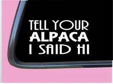 Alpaca Hands Heart Sticker k016 8 inch kria decal