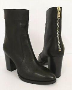 Women Ladies ex River Island black leather boots