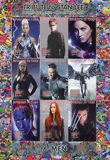 Chad 2018 CTO X-Men Wolverine Stan Lee Superheroes 9v M/S Comics Movies Stamps
