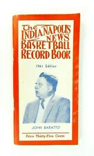 The Indianapolis News High School Basketball Record Book 1961 Edition Paperback