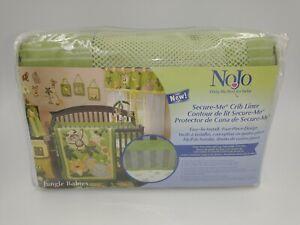 NoJo Crib Liner Green Jungle Babies