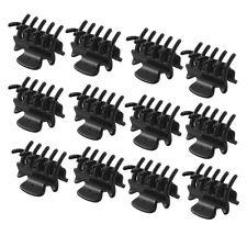 "12 Pcs 1.1"" Long Black Plastic Mini Hairpin 10 Claws Hair Clip Clamp for Ladies"