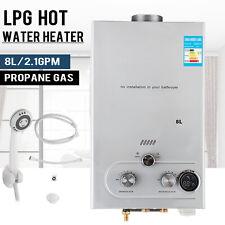8L LPG Propane Gas Durchlauferhitzer Warmwasserbereiter Wasserspeicher CE