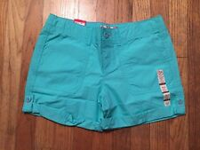 NEW Girls Plus 12.5  Bermuda Shorts Mid Rise by SO Mint Green