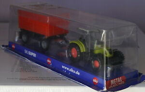 Siku Claas Tractor and Tipping Trailer 1:87 Scale