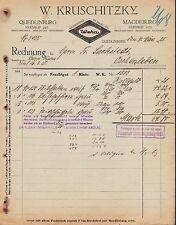 """QUEDLINBURG, Rechnung 1925, """"Weka""""-Emaille W. Kruschitzky"""