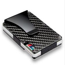 Blocking Slim Carbon Fiber Money Clip Men Minimalist Wallet ID Card Holder Jx