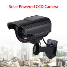 Solar Powered Dummy Fake Camera Waterproof LED Flashing Light Bullet Realstic