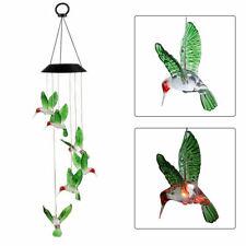 Neu Solar LED Kolibri Windspiel Windharfe Windspiele für den Garten Dekor DE DHL