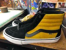 Vans Sk8-Hi PRO Corduroy Black Yolk Yellow Suede Size US 10 Men's VN0A45JDVFC