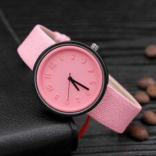 Women Girls Casual Fashion Number Watches Quartz Fashion Canvas Band Wrist Watch