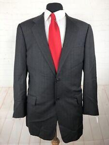 Hickey-Freeman Men's Grey Striped Wool Suit 44R 34X32.5 $1,695