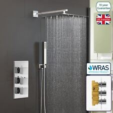 ORTA SQUARE CONCEALED THERMOSTATIC MIXER VALVE HAND HELD 300MM SHOWER HEAD SET
