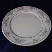 "Noritake Legendary Sweet Leilani Dinner Plate Platinum 10.5"" Porcelain China"
