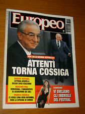 L'EUROPEO 1993/10=COSSIGA SCALFARI=DACIA MARAINI BAGHERIA=ZELIG=CARLO RUBBIA=