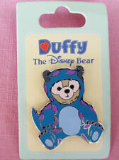 Parks Pin Duffy the Disney Bear In A Sulley Monsters, Inc. Outfit New On Card OE