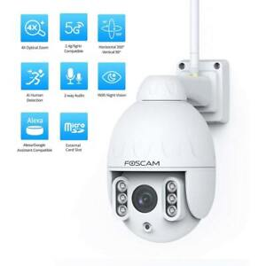 Foscam HT2 1080p Outdoor 2.4g/5gHz WiFi PTZ IP Camera, 4X Optical PTZ Speed Dome