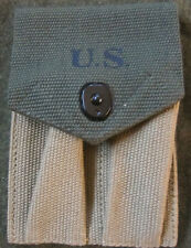 WWII US ARMY INFANTRY M1924 .45 PISTOL MAGAZINE AMMO  POUCH-TRANSITIONAL
