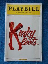 Kinky Boots - Al Hirschfeld Theatre Playbill - April 2013 - Stark Sands