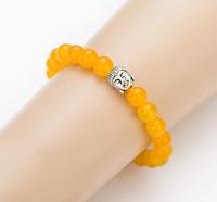 Yellow natural stone Buddha bracelet.Positive energy