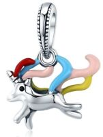 New Colorful Unicorn Memory Charm 100% 925 Sterling Silver Pandora