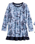 Girl Jammies For Your Families Holiday Blue Camouflage Microfleece Nightgown 5/6